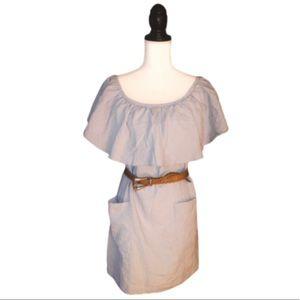 REFORMATION Tennessee Blue Ruffle Midi Dress